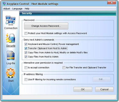 Remote PC settings
